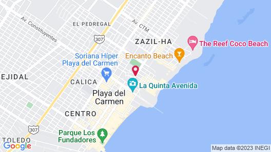 Be Playa Hotel Map