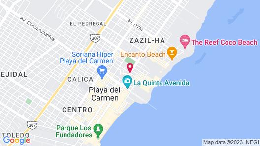 Fiesta Inn Playa del Carmen Map