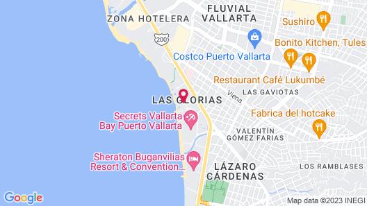 Sunset Plaza Beach Resort Puerto Vallarta All Inclusive Map