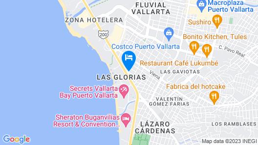 Hotel Vallartasol Map
