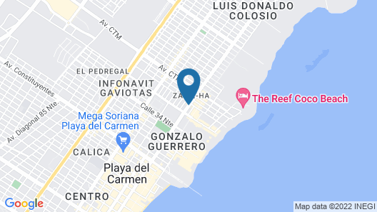 Hotel Maya del Carmen Map