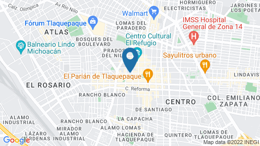 Hotel Rosa Morada Bed and Breakfast Map