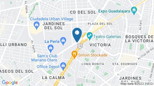 Wyndham Garden Guadalajara Expo Map