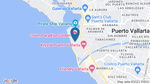 Crown Paradise Golden Puerto Vallarta All Inclusive Map