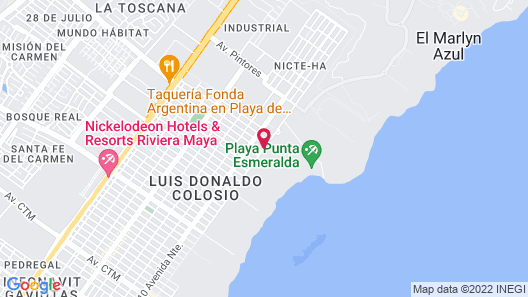 Paradisus Playa del Carmen All Inclusive Map