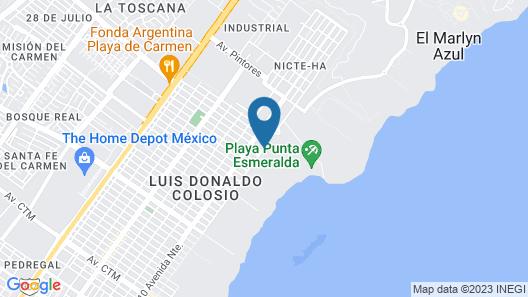 Paradisus Playa del Carmen All Inclusive Map