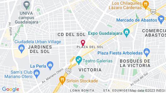 Presidente InterContinental Guadalajara Map