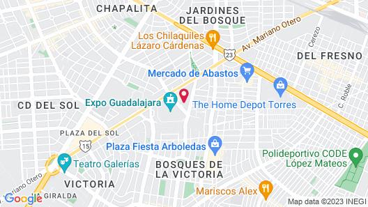 Hilton Guadalajara Map