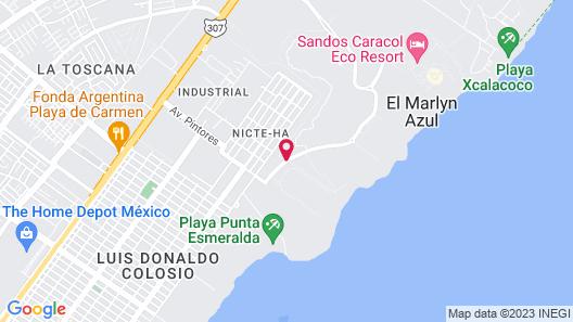 Mareazul Beach Front Resort Playa del Carmen. Map