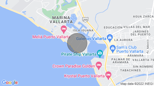 Club Regina Puerto Vallarta With Great Views and Right on the Beach Map