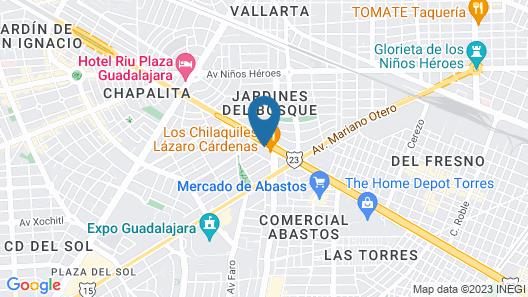 Eco Hotel Guadalajara Expo Map
