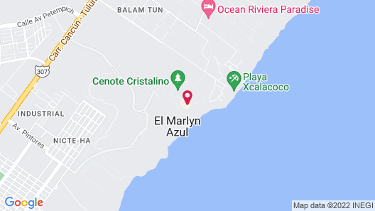 Sandos Caracol Eco Resort - All Inclusive Map