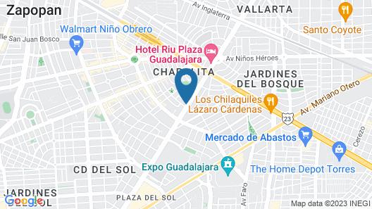 Hotel 1970 Posada Guadalajara, Curio Collection by Hilton Map