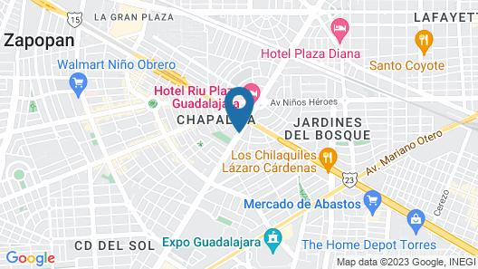 Hotel Victoria Ejecutivo Map