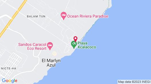 Coco´s Cabañas Petite Hotel Map