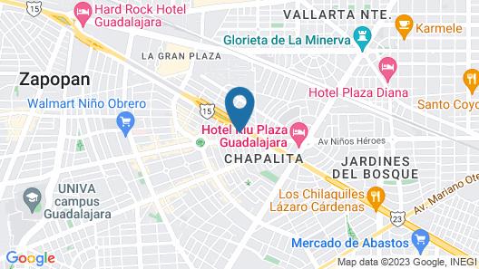 Baruk Guadalajara Hotel de Autor Map