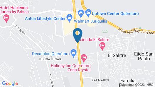 Zar Queretaro Hotel Map
