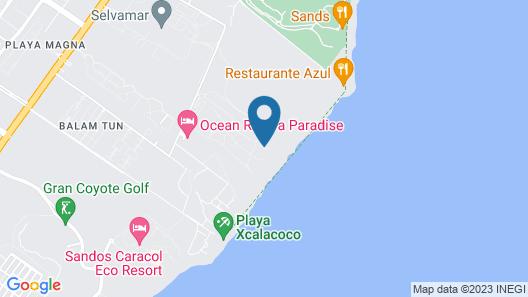 Family Club Grand Riviera Princess - All Inclusive Map
