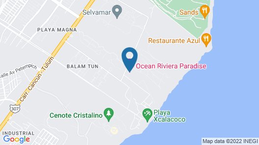 Ocean Riviera Paradise El Beso - All Inclusive - Adults Only Map