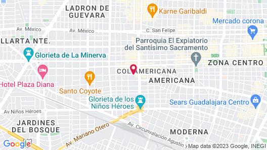 Hotel Laffayette Ejecutivo Map
