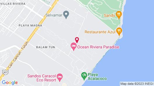 Grand Riviera Princess - All Inclusive Map