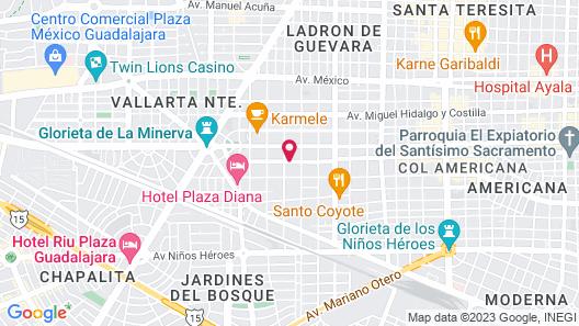 Krystal Urban Guadalajara Map