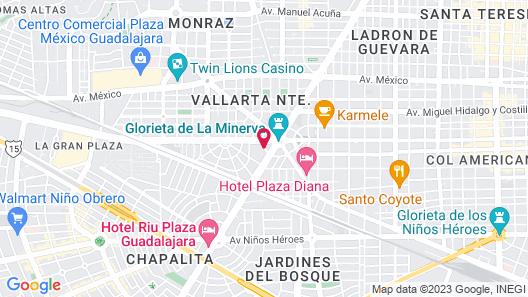 Fiesta Americana - Guadalajara Map