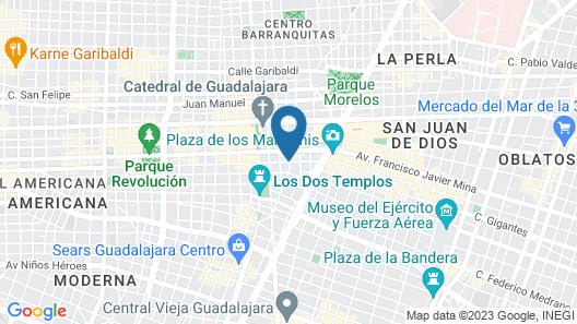 Hotel Universo Guadalajara Map