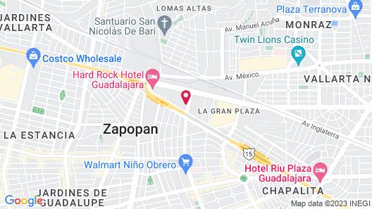 Camino Real Guadalajara Map