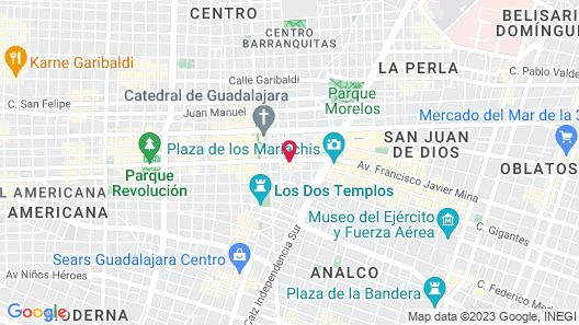Hotel Roma Guadalajara Map