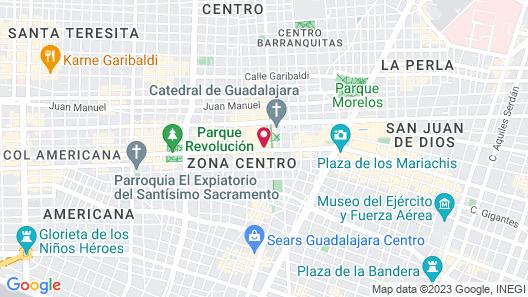 DoubleTree by Hilton Guadalajara Centro Historico Map