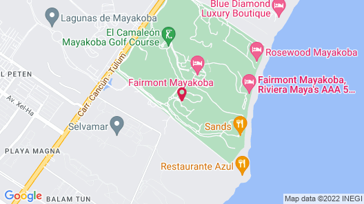 Banyan Tree Mayakoba Map