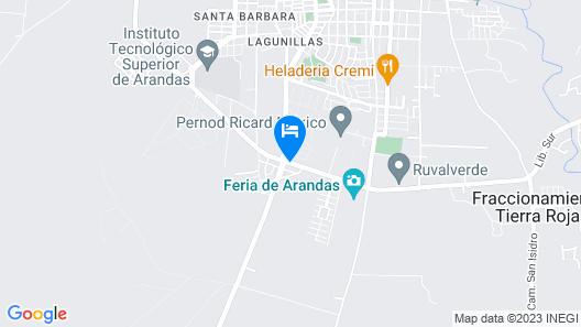 Collection O Hotel Terraza & Cabañas Azul Tequilana Map