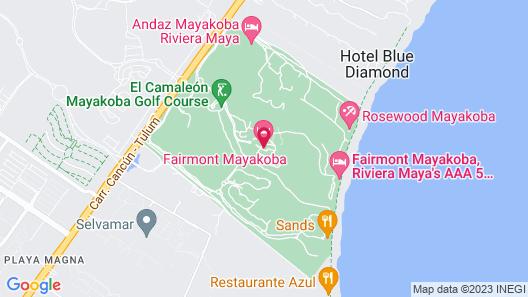 Fairmont Heritage Place Mayakoba Map