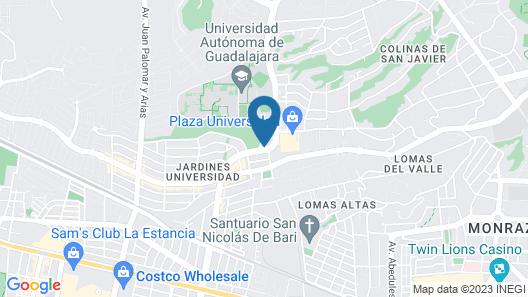 HS HOTSSON Smart Guadalajara Autonoma Map