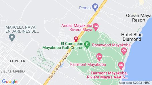 Fairmont Mayakoba Riviera Maya Map