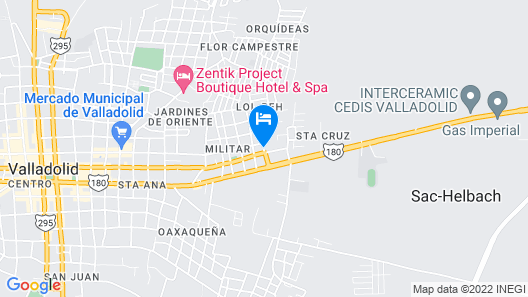 TecnoHotel Valladolid Map