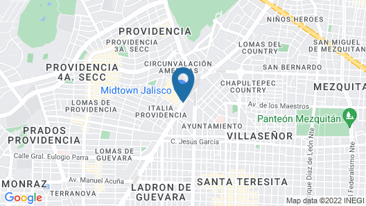 Hilton Guadalajara Midtown Map