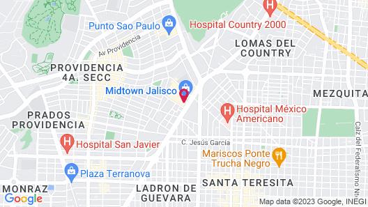 Hilton Guadalajara Midtown Map