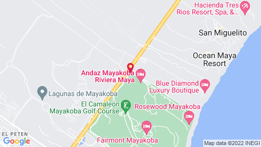 Andaz Mayakoba - a Concept by Hyatt Map