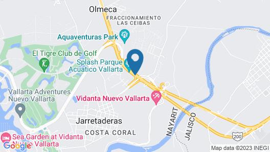 Hotel Splash Inn Nuevo Vallarta Map
