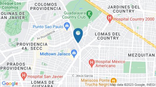 City Express Plus Guadalajara Providencia Map