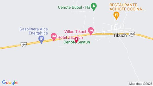 Cabañas Suytun Map