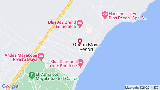 Ocean Maya Royale All Inclusive Adults Only Map