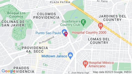 NH Collection Guadalajara Providencia Map