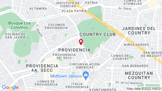Grand Fiesta Americana Guadalajara Country Club Map