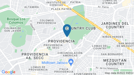 Grand Fiesta Americana Guadalajara Country Club Map