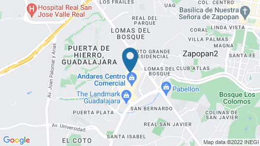 Hyatt Regency Andares Guadalajara Map