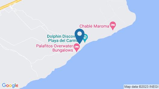 Palafitos Overwater Bungalows at El Dorado Maroma, Gourmet All Inclusive by Karisma Map