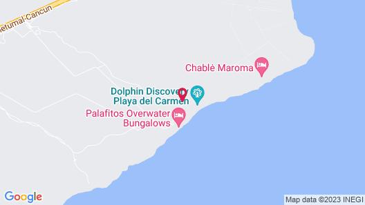 El Dorado Maroma, Gourmet All Inclusive by Karisma Map